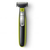 Aparat de tuns barba Philips OneBlade QP2530/20, Baterie Li-Ion, 60min autonomie, 4 capete interschimbabile, Negru/Verde