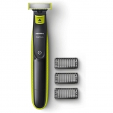 Aparat hibrid de barbierit si tuns barba Philips OneBlade QP2520/20, 3 piepteni, Acumulatori, Negru/Verde