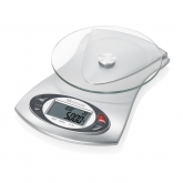 Cantar digital de bucatarie cu ceas si termometru Medisana KS 220 40467, Alb/Gri