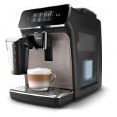 Espressor automat Philips EP2235/40, 12 setari macinare, Ecran tactil, Carafa lapte, 15 bar, Aroma Seal, Negru/Maro auriu