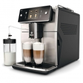 Espressor automat Saeco Xelsis SM7683/00, Ecran tactil cu Coffee Equalizer, Sistem Latteduo, 15 selectii , 6 profiluri, Rasnita ceramica cu 12 trepte, AquaClean, Negru/Inox
