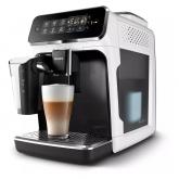 Espressor complet automat Philips EP3243/50, 15 bari, 5 băuturi, LatteGo, 12 setări de măcinare, Afişaj tactil, Detartrare asistată, Rezervor 1.8 L, Setare ECO, Aroma Seal, Negru/alb