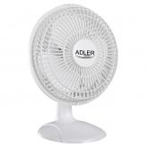 Ventilator de masa ADLER AD 7317, diametru 15 cm, 2 viteze, putere 30W, Alb