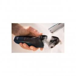Aparat de barbierit electric Philips Seria1000 S1133/41, Uscat, Lame PowerCut Blade, Capete 4D Flex, 40+ min autonomie / 8h incarcare, 1 LED, Baterie NiMH, Gri