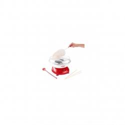 Aparat de facut vata de zahar,DomoClip DOP136, 500 W, Alb/Rosu