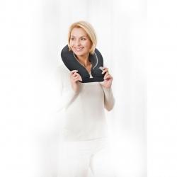 Aparat de masaj pentru gat Shiatsu Medisana NM 865 88945, 4 capete de masaj rotative , 2 nivele de masaj, Negru