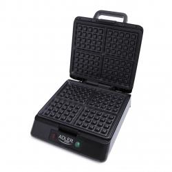 Aparat de preparat waffle/ vafe ADLER AD 3036,1500 wati,inox