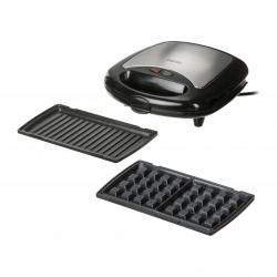 Aparat de sandwich 3in1 Camry CR 3024 cu placi interschimbabile, pentru pregatire waffe, grill si sandwich