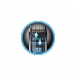 Aparat de tuns barba Remington Touch Tech MB4700, Ecran tactil, 0.4-18 mm, Acumulator, Negru/Argintiu