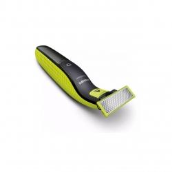 Aparat hibrid de barbierit, tuns barba si parul corporal Philips OneBlade QP2620/20, 4 piepteni, 2 lame, Negru/Verde