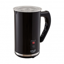 Aparat pentru spumare lapte ADLER AD 4478, 240 ml,500 Wati Functie incalzire lapte, Baza rotativa, Negru