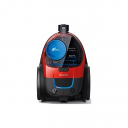 Aspirator  fara sac Philips PowerPro Compact FC9351/01, 1900W, 1.5L, Filtru EPA  10, Negru/Rosu