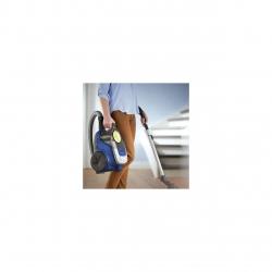 Aspirator Philips fara sac Seria 2000 XB2125/09, tehnologie PowerCyclone 4, 850w, filtru de aer Super Clean, perie multifunctionala, design compact si usor, 9m lungime, Albastru