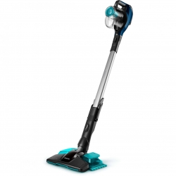 Aspirator vertical 3in1 cu functie de mop Philips SpeedPro Aqua FC6718/01, 18 V, autonomie max 40 min, cap de aspirare 180°, perie integrata, accesoriu spatii inguste, Albastru intens
