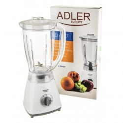Blender AD 4057 Adler, 1.5 litri, 450W, 4 viteze, functie pulsare, Alb