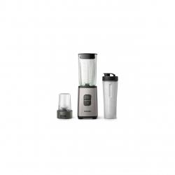 Blender Philips Daily Collection HR2605/80 , 350 W, Pahar On-the-go, Multi-tocator, Argintiu/Negru
