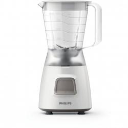 Blender Philips  HR2052/00, 450W, 1,25l, Lame din otel inoxidabil , Sistem de depozitare cablu, Functie pulse,Alb
