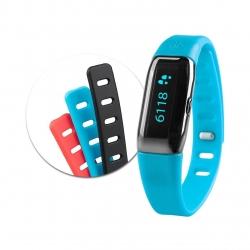 Bratara monitorizare fitness Medisana ViFit Connect MX3 79790, Bluetooth, 3x bratari, pedometru, Negru