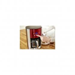 Cafetiera Russell Hobbs Luna Solar Red 23240-56, 1000 W, 1.8 l, Display LCD, Timer, Rosu/Inox