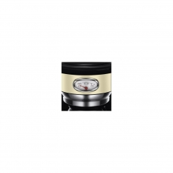 Cafetiera Russell Hobbs Retro Vintage Cream 21702-56, 1000 W, 1,25 l, Tehnologie avansata cu dus, Functie pause and pour, Mentinere la cald, Crem/Inox 21702-56