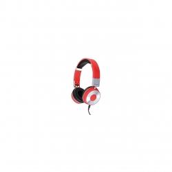 Casti Clip Sonic TES122R, 105dB, conector Jack 3.5mm, Rosu/Argintiu