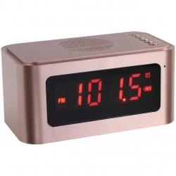 Ceas cu alarma  ClipSonic TES186P, Buletooth, USB, Radio, 5W, Display LED, Roz
