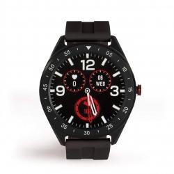 Ceas smartwatch Livoo TEC610, Ecran HD Touchscreen, Pedometru, Functie Multi-sport, Alarma, Ritm Cardiac, Presiune sanguina, Sincronizare apeluri/ mesaje, Negru
