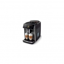 Espressor automat Saeco GranAroma SM6582/10, sistem de lapte Latte Duo, 16 bauturi, ecran TFT color, 6 profiluri utilizator, filtru AquaClean, rasnita ceramica, functie DoubleShot, Crem metalic