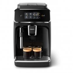 Espressor complet automat Philips EP2224/40, 2 băuturi, 15 bar, 1.8 L, 12 setări de măcinare, Sistem clasic de spumare a laptelui, Afişaj tactil, Filtru AquaClean, Aroma Seal, Negru/Gri caşmir