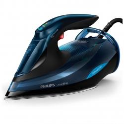 Fier de calcat cu abur Philips Azur Elite GC5034/20, tehnologie OptimalTEMP, Albastru