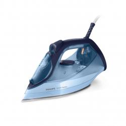 Fier de calcat Philips DST6008/20, 2600 W, debit abur 40 g/min, jet abur 220g, functie CalcClean, talpa ceramica, rezervor XL 550 ml, Albastru