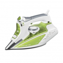 Fier de calcat Rowenta Ecosteam DW9210D1, 2600W, rezervor apa 0.35L, jet abur 200g/min, abur variabil 45g/min, talpa Microsteam 400 Profile Laser, Verde
