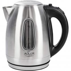 Fierbator Adler AD 1223, Putere 2200 W, Capacitate 1.7 l, Oprire automata, Inox