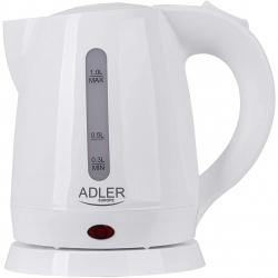 Fierbator apa Adler AD1272, Capacitate 1L, , Putere 1600 W, Filtru anticalcar, Oprire automat, Alb