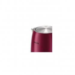 Fierbator de apa Philips HD9322/31,Putere 2200 W, Capacitate 1.7 l, Visiniu/Inox