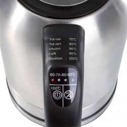 Fierbator Domoclip DOD110 , 4 setari de temperatura, Capacitate 1.7L, Putere 2200W, Oprire automata, Argintiu