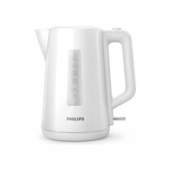 Fierbator Philips HD9318/00, Capacitate1.7 l, Putere 2200W, capac cu resort, indicator luminos, Alb