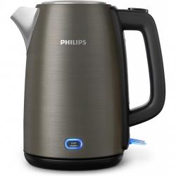 Fierbator Philips Viva Collection HD9355/90, Putere 1740 W, Capacitate 1.7 L, capac metalic, led indicator, Gri