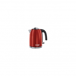 Fierbator Russell Hobbs Colours Plus Flame Red 20412-70, 2400 W, 1.7 l, Fierbere rapida, Varf turnare perfecta, Rosu/Inox