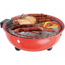 Gratar electric barbeque DOC170R, 1250 W, Suprafata gatit crom Ø 30 cm, Tava scurgere aluminiu