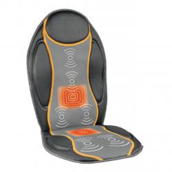 Husa de scaun cu masaj si incalzire Medisana MC810 88937, Telecomanda, 4 zone de masaj, 9 programe de masaj, Adaptor auto, Negru/Gri