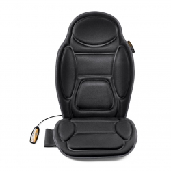 Husa de scaun pentru masaj  Medisana MCH 88935, 3 zone pentru masaj, Vibromasaj, Functie de incalzire, Telecomanda, Negru
