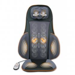 Husa de scaun pentru masaj Shiatsu Medisana MC 825 88939, 4 zone de masaj, Functie de incalzire, Infrarosu, Telecomanda, 3X trepte de masaj, 40W, Negru/Gri