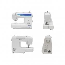 Masina de cusut electromecanica Minerva M832B Model 2020, 32 Programe, 800 Imp/Min, 70W, Alb/Albastru