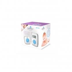 Monitor Digital Audio pentru bebelusi Bayby BBM 7010, Ecran LCD, 1,8GHz, 120 canale , 5 trepte volum, Alb/Argintiu