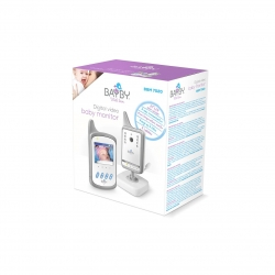 "Monitor digital video pentru bebelusi Bayby BBM 7020, 2,4 GHz, 250m, Vedere Nocturna, Ecran LCD 2,4"", Alb/Gri"