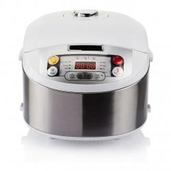 Multicooker Philips HD3037/70, 980 W, 5 l, Programe automate, Timer, Alb/Argintiu