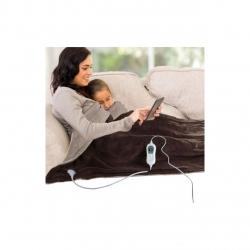 Patura electrica 160 x 130 cm Wellness by DomoClip DOW103, 3 trepte temperatura, 120W