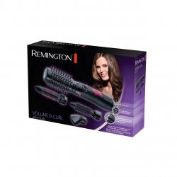 Perie cu aer cald Remington AS7051, 1000 W, 4 Accesorii, Invelis ceramic, 2 setari de temperatura, Negru