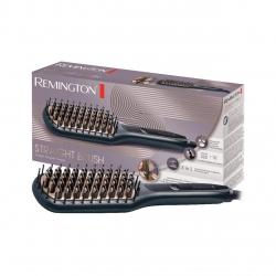 Perie de indreptat parul Remington CB7400, Invelis ceramic, 230 grade, 3 setari temperatura, Incalzire rapida, Husa, Negru